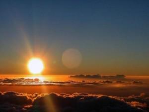 linda puesta del sol