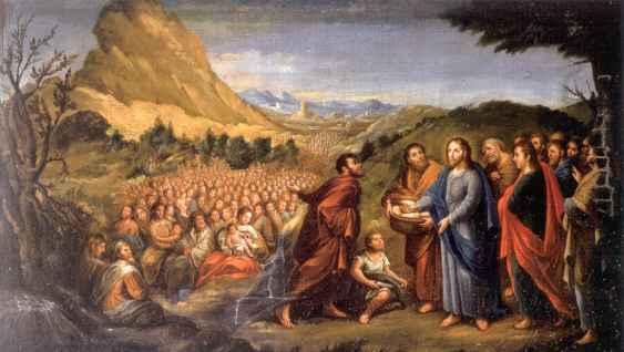 Jesús - Milagro multiplica panes y peces