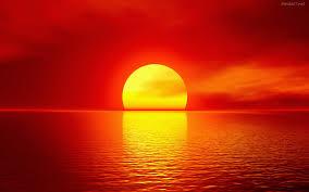 puesta del sol bello