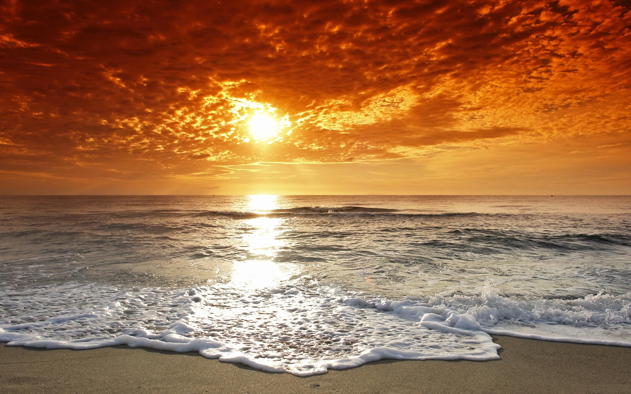 atardecer en playa